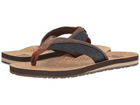 Toms Santiago Flip Flop Navy Denim Cork Men's Sandals