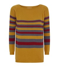 Valentino Striped Cashmere Jumper Female Brown