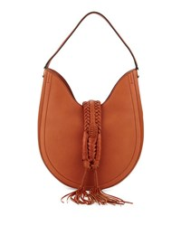 Altuzarra Ghianda Woven Leather Hobo Bag Saddle