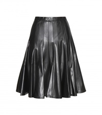 Marc By Marc Jacobs Pleated Faux Leather Skirt Black