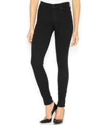 A Gold E High Waist Skinny Jeans Luxe Black Wash