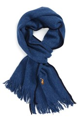 Polo Ralph Lauren Men's Merino Wool Scarf Shale Blue Hthr