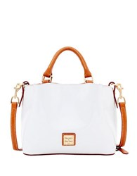 Dooney And Bourke Mini Barlow Patent Leather Satchel White