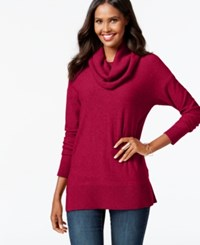 Inc International Concepts Cowl Neck Tunic Sweater Only At Macy's Real Red
