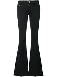 Don't Cry Frayed Flared Jeans Black