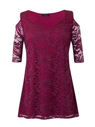 Grace Made In Britain Lace Detail Tunic Top Pink