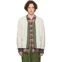 Greg Lauren Off White Modern Flight Jacket