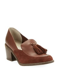 Seychelles Descent Suede And Leather Loafers Whiskey