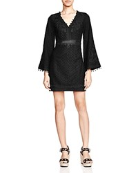 The Kooples Bell Sleeve Mini Dress Black