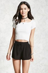 Forever 21 Lace Up Crepe Woven Shorts