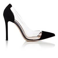 Gianvito Rossi Women's Cap Toe Pumps Black Blue Black Blue