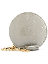 Louis Vuitton Vintage Vernis Porte Monnaie Chapo Coin Purse Grey