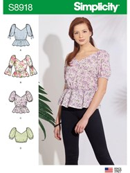Simplicity 'S Peplum Top Sewing Pattern 8918