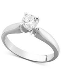 Macy's Certified Diamond Round Solitaire Engagement Ring In 14K White Gold 5 8 Ct. T.W.