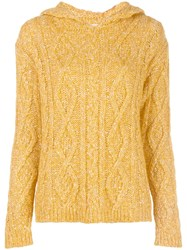Majestic Filatures Cable Knit Hooded Top 60