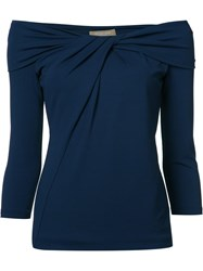 Michael Kors Twisted Front Blouse Blue