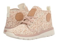Palladium Pallaville Hi Rose Dust Marshmallow Tulip Print Women's Lace Up Casual Shoes Pink