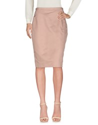 Aquilano Rimondi Knee Length Skirts Skin Color
