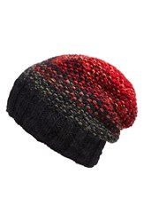 Nirvanna Designs 'Faded Slouch' Beanie Red Black
