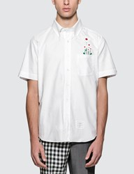 Thom Browne Straight Fit Button Down S S Shirt