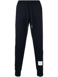 Thom Browne Rwb Stripe Loopback Sweatpants Blue