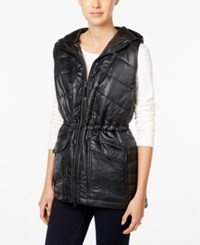 Styleandco. Style Co. Hooded Quilted Vest Only At Macy's Deep Black