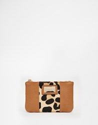 Dune Leopard Coin Purse Tan