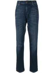 Tom Ford Washed Boyfriend Jeans Cotton Blue