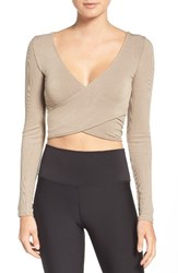 Alo Yoga Women's Ameilia Two Way Crop Top