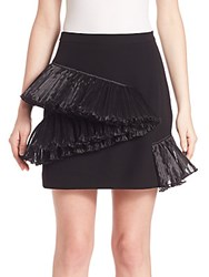 Opening Ceremony Ruffle Stone Mini Skirt Black