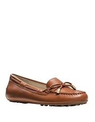 Michael Michael Kors Daisy Leather Moccasins Luggage