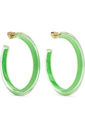 Alison Lou Medium Jelly Lucite And Enamel Hoop Earrings Gold
