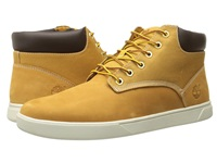 Timberland Groveton Plain Toe Chukka Leather And Fabric Wheat Nubuck Canvas Men's Shoes Yellow