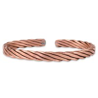 Navarini Usa Handcrafted Twisted Copper Cuff Braceletmedium