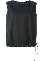 Sofie D'hoore 'Balloon' Tie Waist Relaxed Fit Tank Top Black