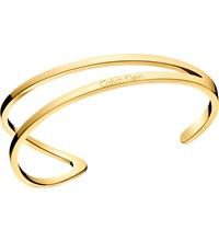 Calvin Klein Outline Gold Tone Stainless Steel Bangle Bracelet