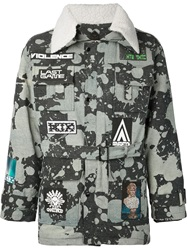Ktz Stained Flyers Jacket Grey