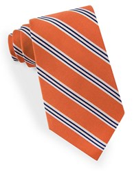 Lord And Taylor Racer Stripe Tie Orange