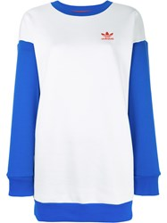Adidas Originals Printed Oversized Sweatshirt White