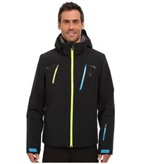 Spyder Revelstoke 321 Jacket Black Electric Blue Bryte Yellow Men's Coat