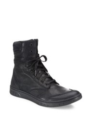 Diesel S Boulevard Leather Ankle Boots Black