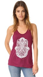Spiritual Gangster Hamsa Eye Stamp Tank Currant