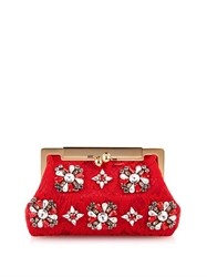 Dolce And Gabbana Sara Lace And Crystal Clutch