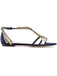 Charlotte Olympia 'Ahoy Sailor' Sandals Blue