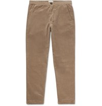 Oliver Spencer Wide Leg Cotton Corduroy Drawstring Trousers Tan