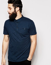 Only And Sons Washed Jersey Polo Darknavy
