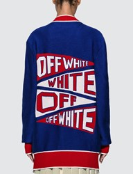 Off White Flag Cardigan Blue
