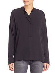 Helmut Lang Silk Open Back Top With Bow Black