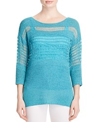 Miraclebody Jeans Miraclebody By Miraclesuit Drew Open Knit Sweater Turquoise