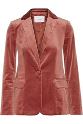 Frame Classic Cotton Blend Velvet Blazer Orange